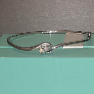 NEW .25ctw Genuine Diamond Bangle Bracelet, 925